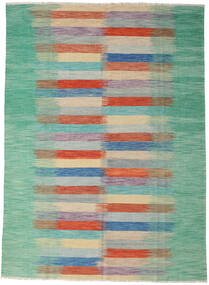 Kilim Modern Rug 257X354 Authentic  Modern Handwoven Light Grey/Pastel Green Large (Wool, Afghanistan)