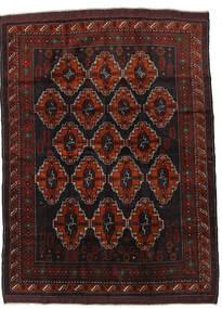 Beluch Matta 190X260 Äkta Orientalisk Handknuten Mörkbrun/Mörkröd (Ull, Afghanistan)