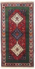 Yalameh Matta 102X200 Äkta Orientalisk Handknuten Mörkgrå/Brun (Ull, Persien/Iran)