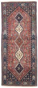 Yalameh Matto 82X193 Itämainen Käsinsolmittu Käytävämatto Violetti/Tummanharmaa (Villa, Persia/Iran)