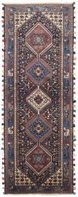 Yalameh Matto 78X214 Itämainen Käsinsolmittu Käytävämatto Vaaleanvioletti/Tummansininen (Villa, Persia/Iran)