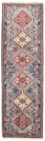 Yalameh Rug 60X200 Authentic Oriental Handknotted Hallway Runner Light Grey/Dark Beige (Wool, Persia/Iran)