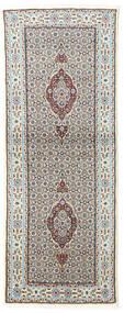 Moud Alfombra 75X199 Oriental Hecha A Mano Gris Claro/Beige (Lana/Seda, Persia/Irán)