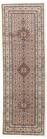 Moud Vloerkleed 81X237 Echt Oosters Handgeknoopt Tapijtloper Lichtgrijs/Beige (Wol/Zijde, Perzië/Iran)