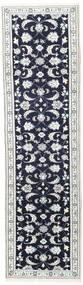 ナイン 絨毯 81X288 オリエンタル 手織り 廊下 カーペット 濃い紫/ベージュ (ウール, ペルシャ/イラン)