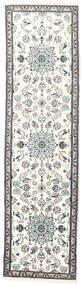 ナイン 絨毯 76X281 オリエンタル 手織り 廊下 カーペット ベージュ/薄い灰色 (ウール, ペルシャ/イラン)