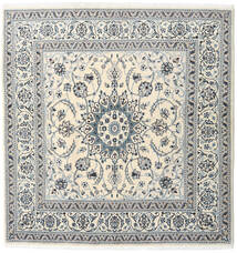 Nain Rug 194X198 Authentic  Oriental Handknotted Square Beige/Light Grey/Dark Grey (Wool, Persia/Iran)