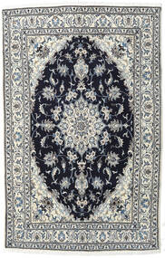 Nain Rug 155X242 Authentic  Oriental Handknotted Light Grey/Dark Grey (Wool, Persia/Iran)