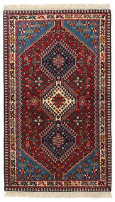 Yalameh Rug 82X140 Authentic  Oriental Handknotted Dark Red (Wool, Persia/Iran)