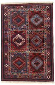 Yalameh Matto 102X149 Itämainen Käsinsolmittu Tummanpunainen/Tummanruskea (Villa, Persia/Iran)