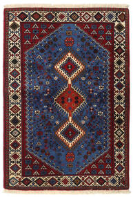 Yalameh Rug 107X152 Authentic  Oriental Handknotted Dark Red/Dark Brown/Dark Blue (Wool, Persia/Iran)