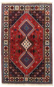 Yalameh Matto 104X160 Itämainen Käsinsolmittu Tummanpunainen/Tummanharmaa (Villa, Persia/Iran)