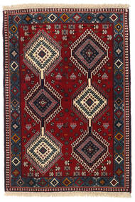 Yalameh Rug 105X151 Authentic  Oriental Handknotted Dark Red/Dark Brown (Wool, Persia/Iran)