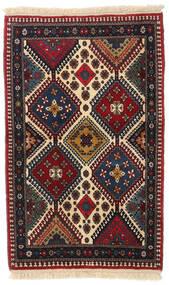 Yalameh Matto 83X130 Itämainen Käsinsolmittu Tummanpunainen/Ruskea (Villa, Persia/Iran)
