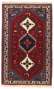 Yalameh Matto 83X133 Itämainen Käsinsolmittu Tummanpunainen/Tummanvihreä (Villa, Persia/Iran)