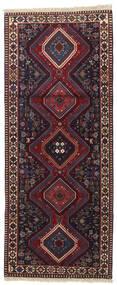 Yalameh Dywan 80X198 Orientalny Tkany Ręcznie Chodnik Czarny/Ciemnoczerwony (Wełna, Persja/Iran)