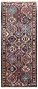 Yalameh Szőnyeg 80X194 Keleti Csomózású Sötétszürke/Sötétpiros (Gyapjú, Perzsia/Irán)