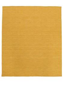 Kilim Loom - Żółty Dywan 250X300 Nowoczesny Tkany Ręcznie Jasnobrązowy/Żółty Duży (Wełna, Indie)