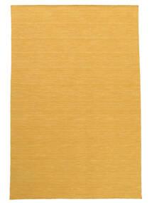 Kelim Loom - Gul Matta 140X200 Äkta Modern Handvävd Ljusbrun/Gul (Ull, Indien)