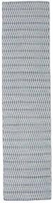 Chilim Long Stitch - Albastru Covor 80X440 Modern Lucrate De Mână Gri Deschis/Bej-Crem (Lână, India)