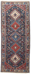 Yalameh Dywan 82X199 Orientalny Tkany Ręcznie Chodnik Czarny/Beżowy (Wełna, Persja/Iran)