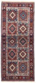 Yalameh Teppich  83X200 Echter Orientalischer Handgeknüpfter Läufer Dunkellila/Hellgrau (Wolle, Persien/Iran)