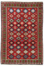 Yalameh Vloerkleed 64X93 Echt Oosters Handgeknoopt Donkerrood/Donkerbruin (Wol, Perzië/Iran)