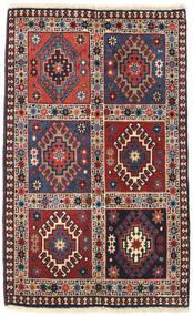 Yalameh Matto 62X101 Itämainen Käsinsolmittu Tummanpunainen/Ruskea (Villa, Persia/Iran)