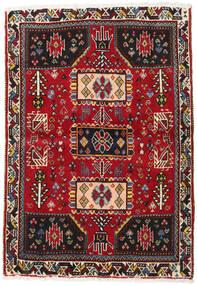 Shiraz Vloerkleed 83X119 Echt Oosters Handgeknoopt Rood/Zwart (Wol, Perzië/Iran)