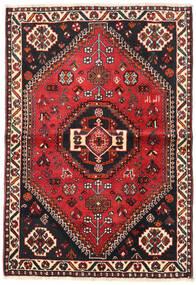 Shiraz Matto 106X154 Itämainen Käsinsolmittu Musta/Ruoste (Villa, Persia/Iran)
