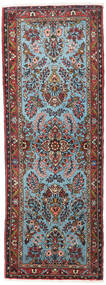 Asadabad Dywan 78X213 Orientalny Tkany Ręcznie Chodnik Ciemnobrązowy/Jasnoniebieski (Wełna, Persja/Iran)
