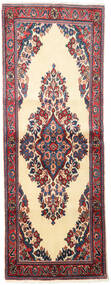 Sarough Alfombra 73X197 Oriental Hecha A Mano Gris Oscuro/Beige/Rojo Oscuro (Lana, Persia/Irán)