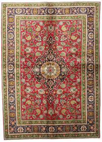 타브리즈 러그 140X192 정품  오리엔탈 수제 다크 그레이/브라운 (울, 페르시아/이란)