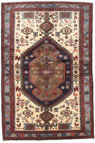 Hamadan Rug 126X192 Authentic  Oriental Handknotted Dark Red/Light Brown (Wool, Persia/Iran)