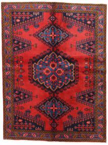Wiss Matta 152X202 Äkta Orientalisk Handknuten Mörklila/Mörkröd (Ull, Persien/Iran)