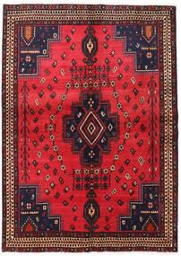Afshar Vloerkleed 152X215 Echt Oosters Handgeknoopt Rood/Zwart (Wol, Perzië/Iran)