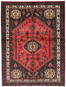 Afshar Rug 154X203 Authentic  Oriental Handknotted Black/Brown (Wool, Persia/Iran)