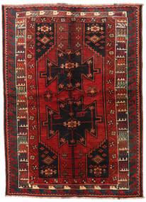 Lori Covor 155X215 Orientale Lucrat Manual Roșu-Închis/Negru (Lână, Persia/Iran)