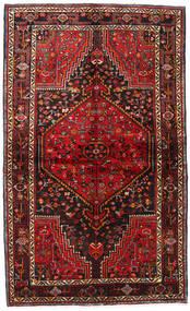 Hamadan Dywan 136X227 Orientalny Tkany Ręcznie Ciemnoczerwony/Ciemnobrązowy (Wełna, Persja/Iran)