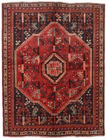 Sziraz Dywan 157X207 Orientalny Tkany Ręcznie Ciemnoczerwony/Czarny (Wełna, Persja/Iran)