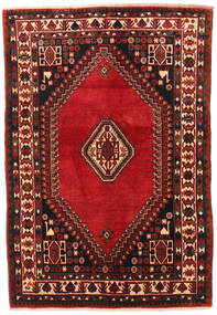 Shiraz Rug 129X187 Authentic  Oriental Handknotted Dark Red/Black (Wool, Persia/Iran)