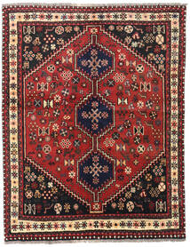 Shiraz Rug 147X190 Authentic Oriental Handknotted Dark Red/Rust Red (Wool, Persia/Iran)
