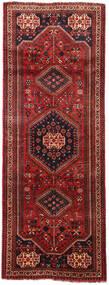 Shiraz Alfombra 106X288 Oriental Hecha A Mano Rojo Oscuro/Negro (Lana, Persia/Irán)