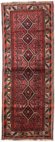 Shiraz Rug 104X278 Authentic  Oriental Handknotted Hallway Runner  (Wool, Persia/Iran)