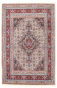 Moud Teppe 78X117 Ekte Orientalsk Håndknyttet Mørk Grå/Beige (Ull/Silke, Persia/Iran)