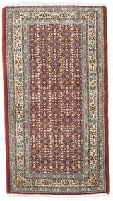 Moud Vloerkleed 73X132 Echt Oosters Handgeknoopt Lichtbruin/Lichtgrijs (Wol/Zijde, Perzië/Iran)
