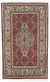 Moud Teppe 73X120 Ekte Orientalsk Håndknyttet Lysbrun/Mørk Rød/Mørk Brun (Ull/Silke, Persia/Iran)