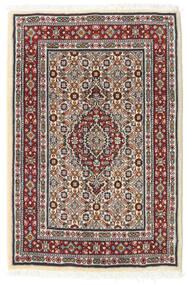 Moud Matto 61X90 Itämainen Käsinsolmittu Beige/Tummanruskea (Villa/Silkki, Persia/Iran)