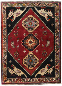 Qashqai Rug 122X165 Authentic  Oriental Handknotted Dark Red/Black (Wool, Persia/Iran)