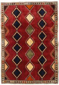 Ghashghai Vloerkleed 125X178 Echt Oosters Handgeknoopt Donkerrood/Roestkleur (Wol, Perzië/Iran)